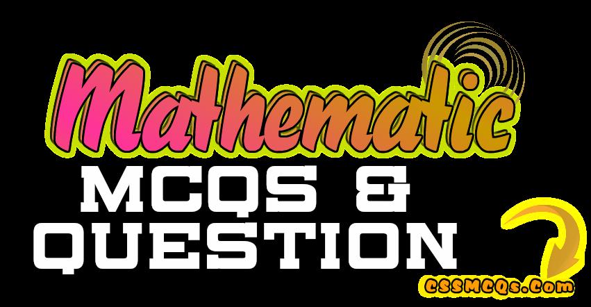 Mathematic banner of MCQs